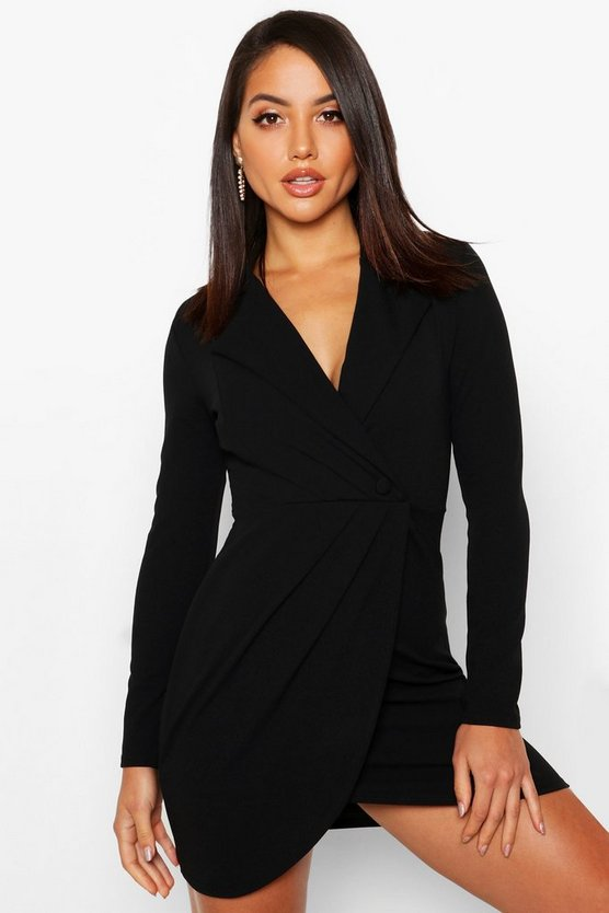 Wrap Front Blazer Dress