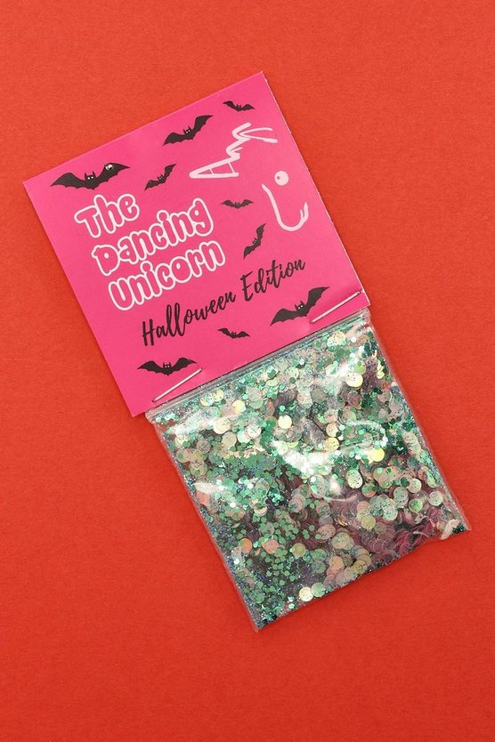 Halloween Mermaid Green Face Glitter