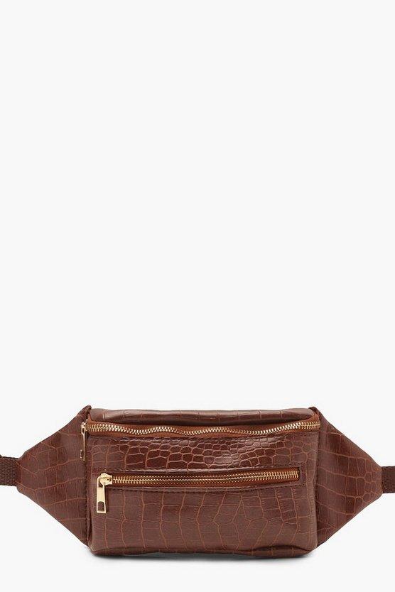 Croc Double Zip Bum Bag