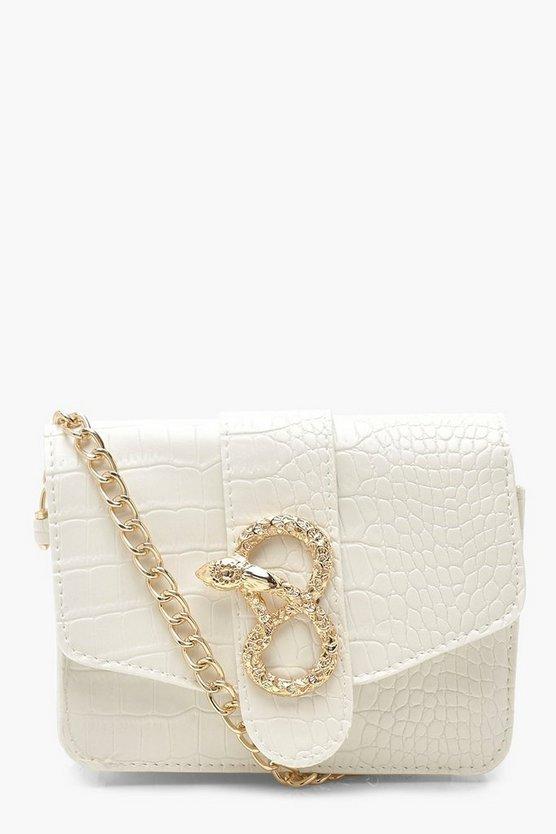 Croc Snake Buckle Chain Multiway Bag