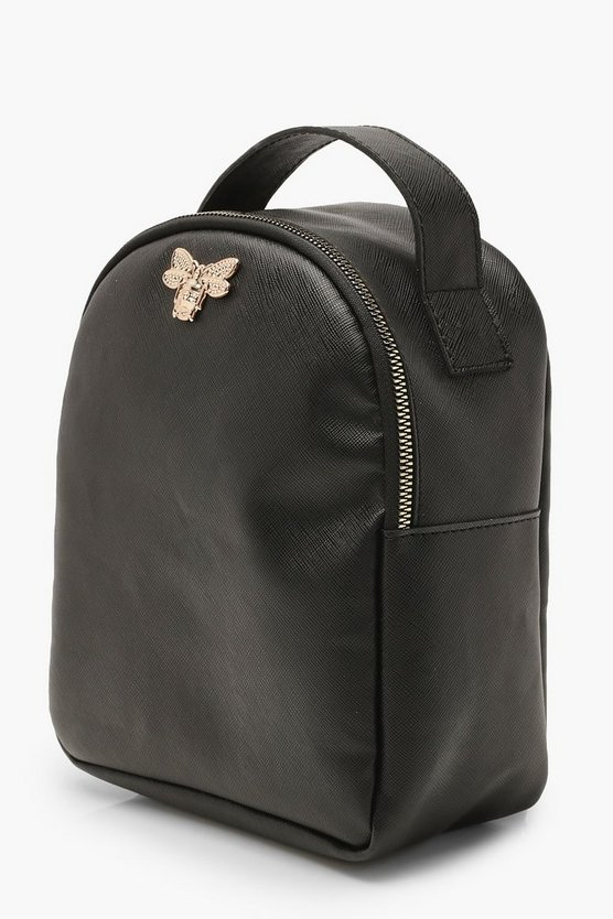 Cross Hatch Metal Mini Bee Rucksack