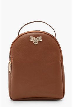 Dam Tan Cross Hatch Metal Mini Bee Rucksack