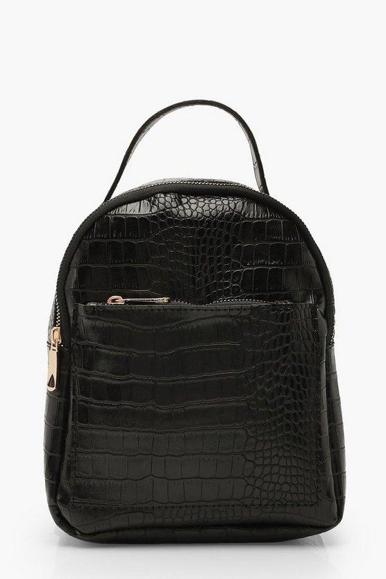 Croc Zip Front Mini Rucksack