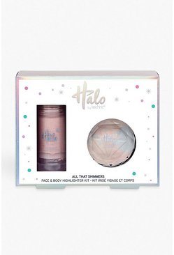 Womens White Halo All That Shimmers Face & Body Kit