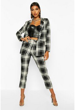 Black Tartan Check Trouser
