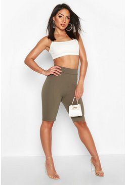 Khaki Contoured Cycling shorts