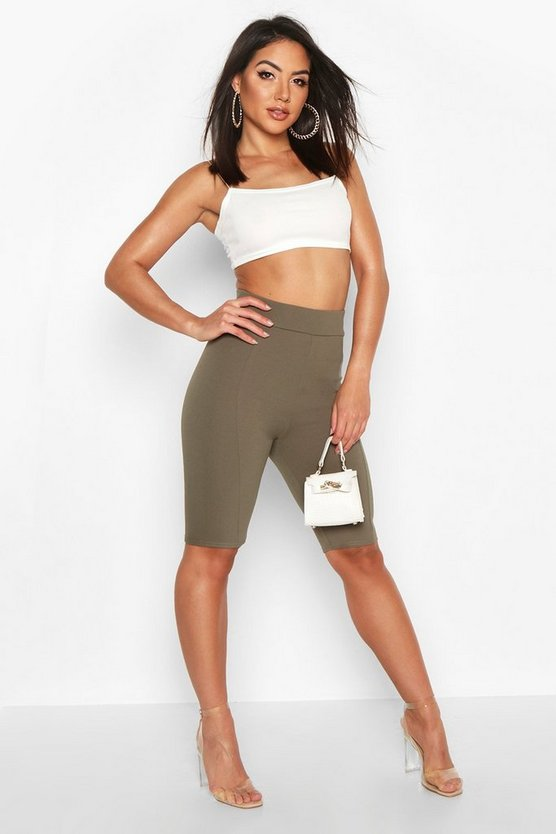 Womens Khaki Contoured Cycling shorts