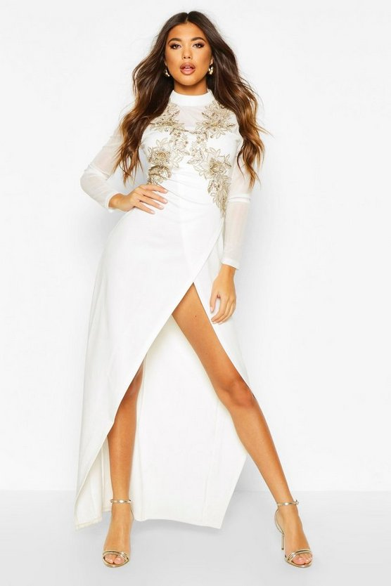 Ivory Embellished Maxi Dress