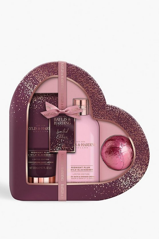 Purple Baylis & Harding Plum & Blackberry Heart Set