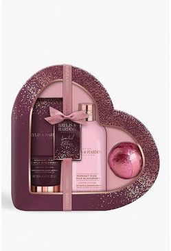 Womens Purple Baylis & Harding Plum & Blackberry Heart Set