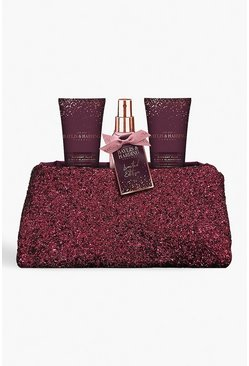 Womens Purple Baylis & Harding Plum Clutch Bag Set
