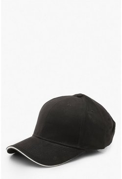 Plain Cap, Black, DAMEN