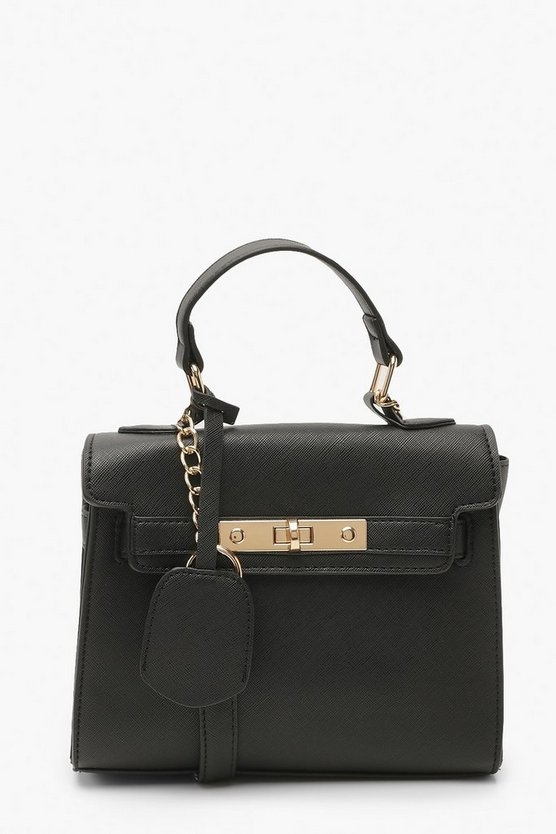 Structured Mini Lock Crossbody Bag