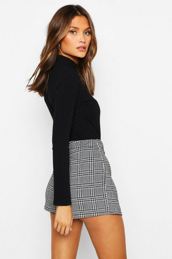 Check Skort With Buttons