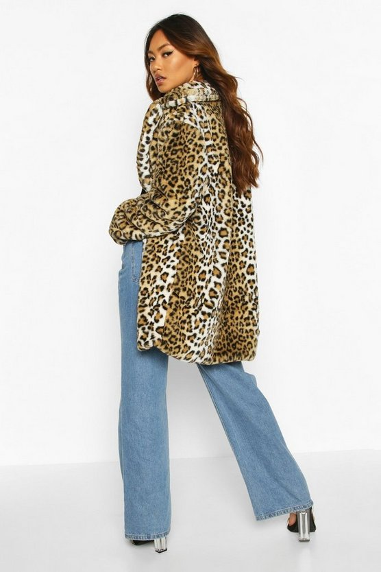 Leopard Oversized Faux Fur Coat