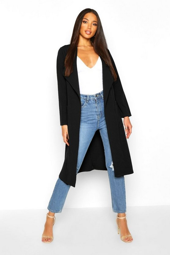 Utility Pocket Belted Duster by Boohoo