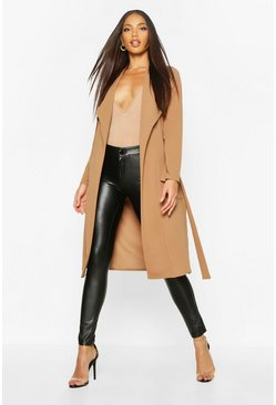 Camel Utility Pocket Belted Duster