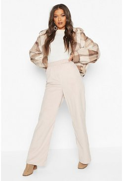 Womens Stone Cord Wide Leg Trouser