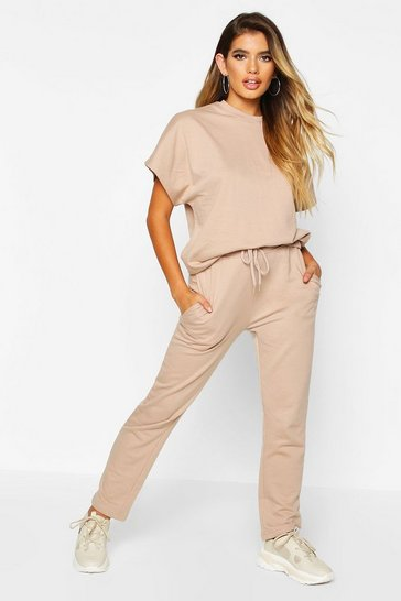 Womens Stone Boxy T-Shirt & Jogger Co-ord