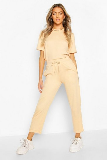Peach Short Sleeved Top & Lounge Jogger Co-ord