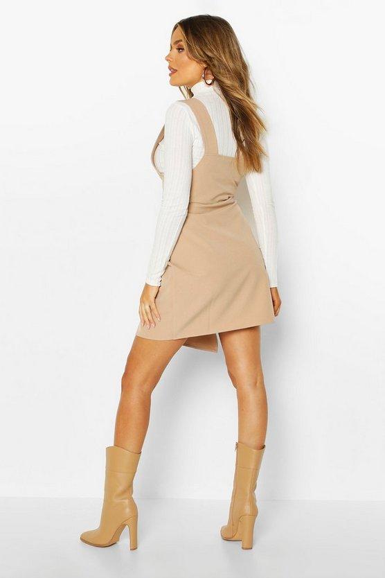 Pocket Front Pinafore Dress
