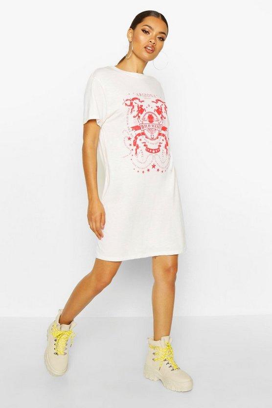 Arizona Western Printed T-Shirt Dress