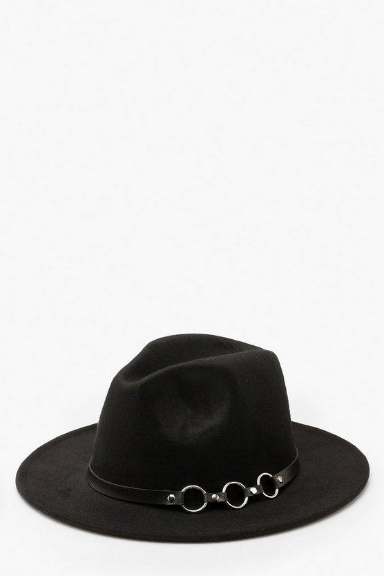 Ring Detail Fedora Hat
