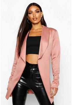 Womens Rose Belted Collared Jacket