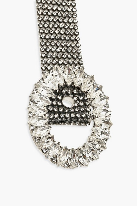 Diamante Buckle Chainmail Belt