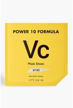 Womens Yellow It's Skin Power 10 VC Face Mask