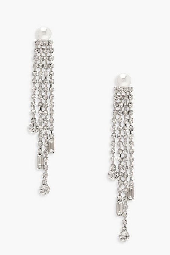 Pearl & Diamante Statement Earrings