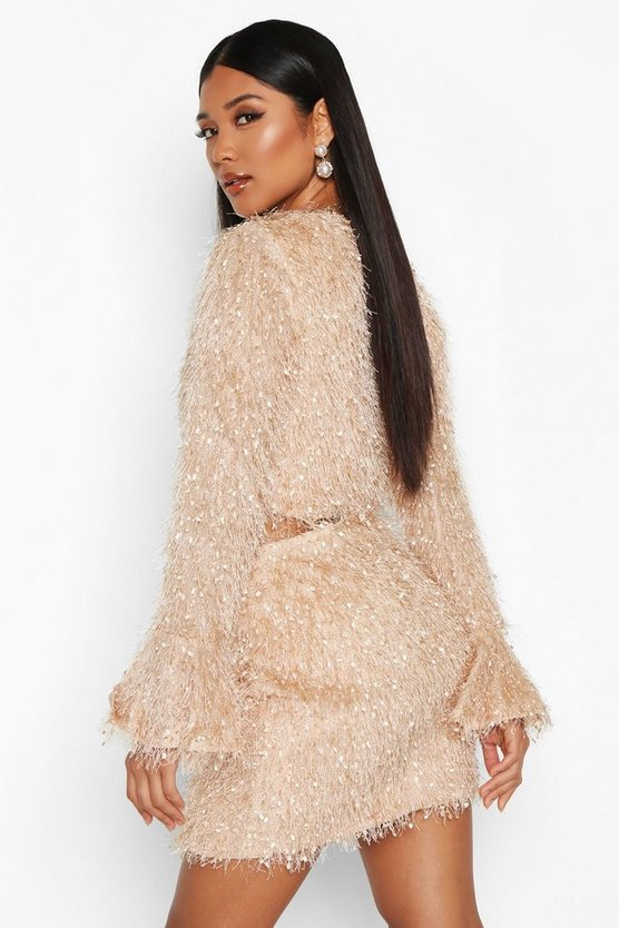 Feather Knit Crop Flare Co-ord Set