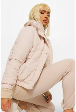 Stone Funnel Neck Puffer Jacket