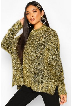 Gold Oversized Tinsel Jumper