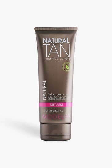 Womens Brown ModelCo Natural Tan Lotion