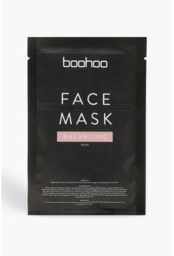 Womens Pink Rose Balancing Treatment Face Sheet Mask