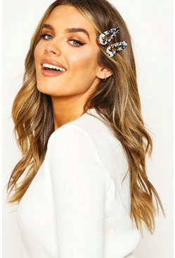 Womens Black 2 Pack Tortoisehell Hair Clips
