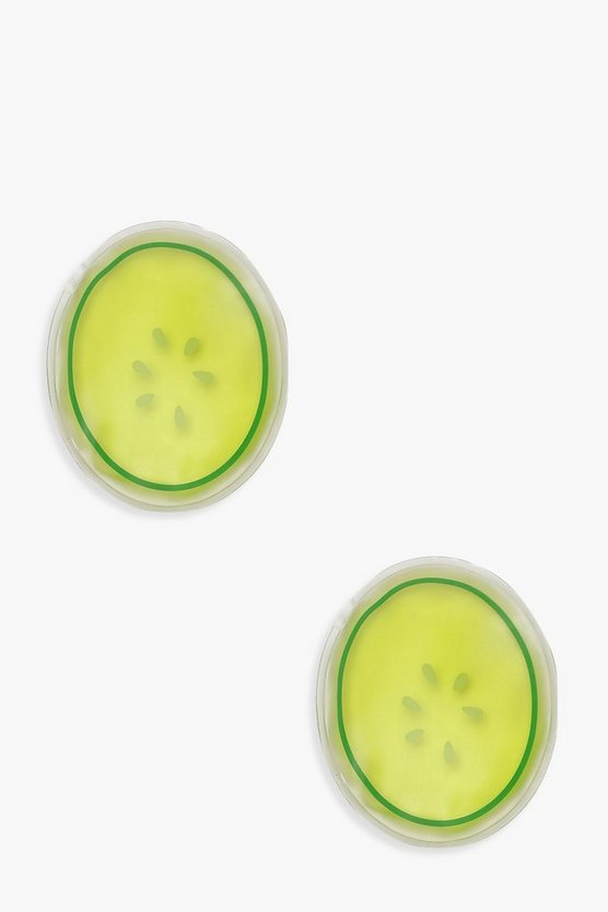 Green Reusable Cucumber Cooling Eye Patches