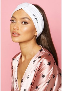 White Boohoo Spa Facial Headband
