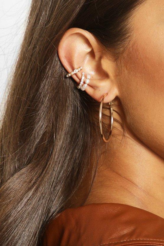 Pearl And Diamante Ear Cuff Pack