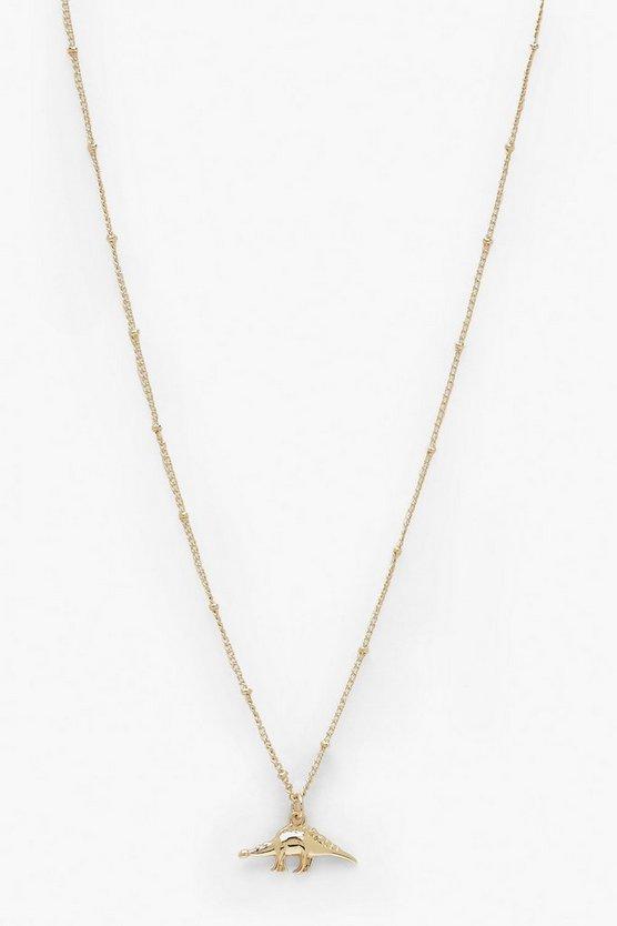 Mini Dino Pendant Necklace