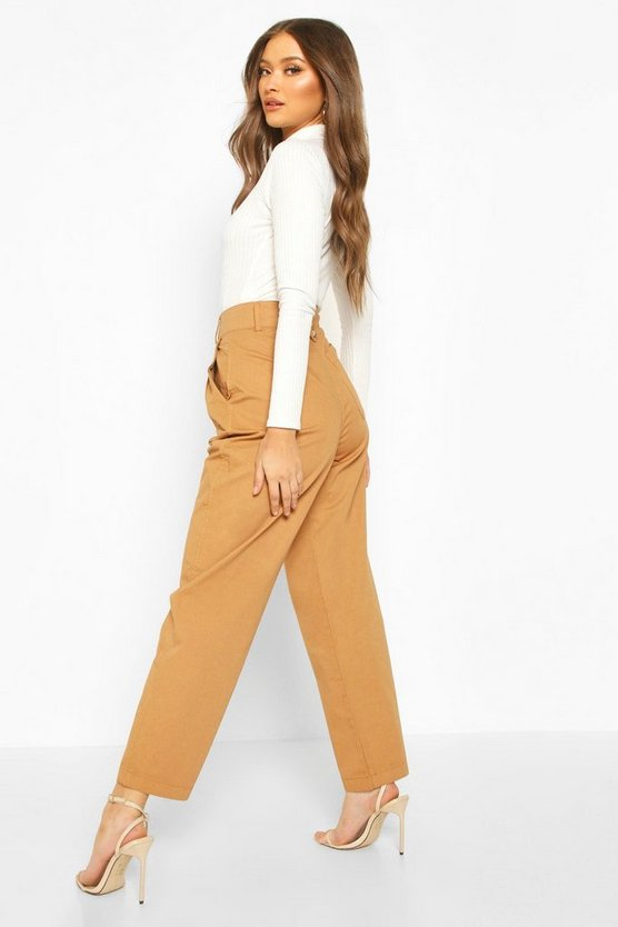 Tailored Pleat Front Denim Trouser