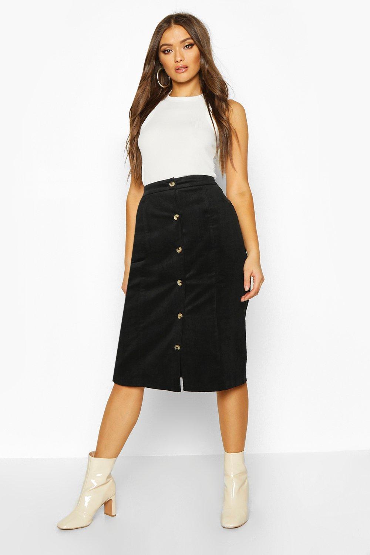 60s Skirts | 70s Hippie Skirts, Jumper Dresses Button Down Cord Midi Skirt $18.00 AT vintagedancer.com