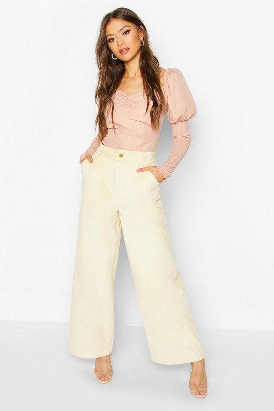 Wide Leg Cord Trouser