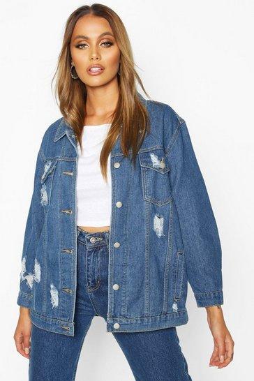 3b4ea6401 Distressed Oversized Denim Jacket