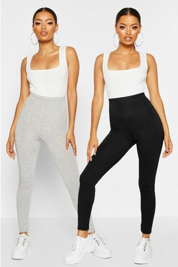 Grey 2 Pack Basic Jersey Leggings