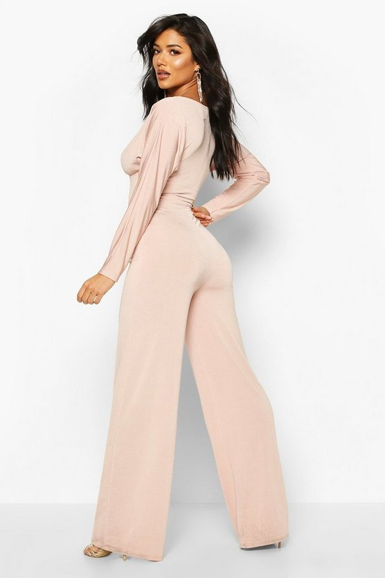 Batwing Wide Leg Jumpsuit