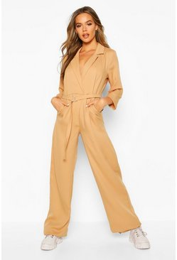 Stone Tailored Wide Leg Jumpsuit