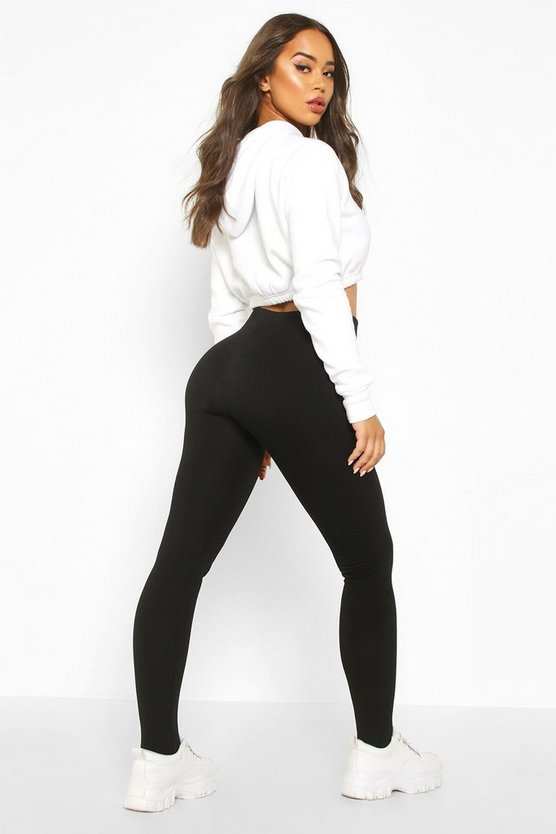 Seam Front Fleece Lined Stirrup Leggings