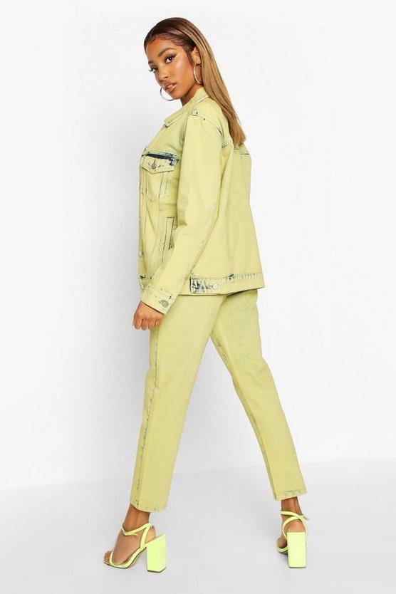 Lime Acid Wash Denim Jacket